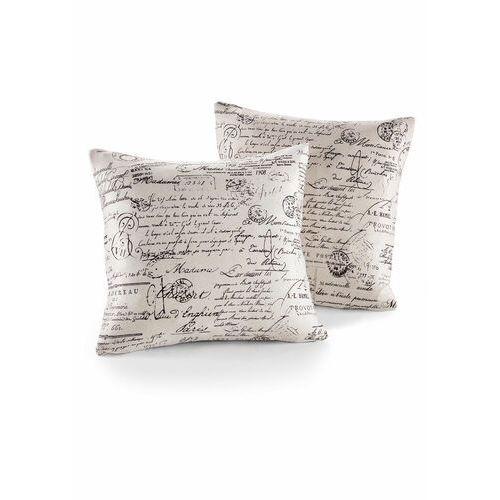Pokrowiec /poszewki na poduszki w stylu vintage bonprix kremowy