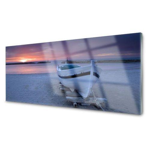 Obraz akrylowy łódka plaża słońce krajobraz marki Tulup.pl