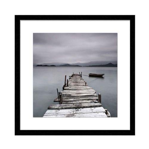 Obraz Molo 30 x 30 cm czarna ramka