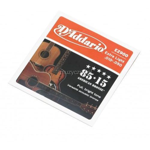 ez 900 struny do gitary akustycznej 10-50 marki D′addario