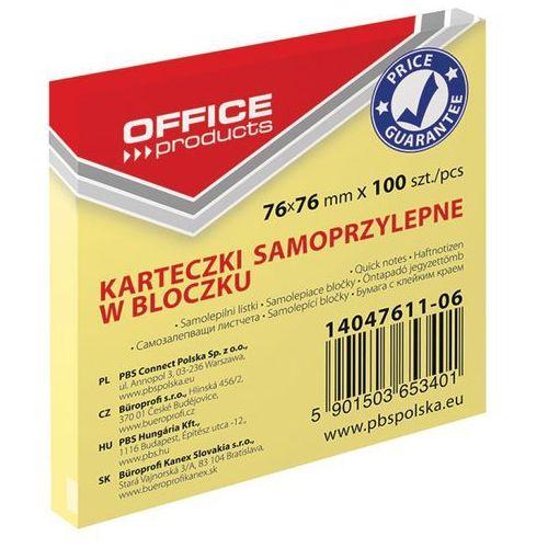 Pbs notes samoprz.office 76x76mm.pastel.j.żółty 14047611-06 100k