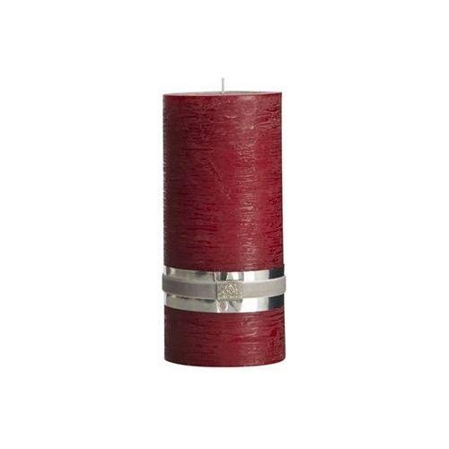 Lene Bjerre Świeca 20 cm ciemno-czerwona