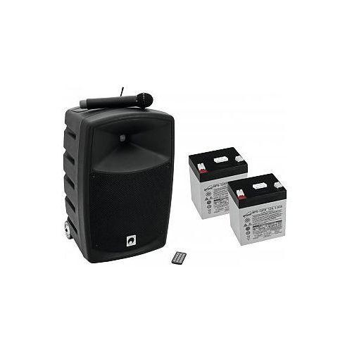 Omnitronic Set WAMS-10BT1 + batteries, mobilny system nagłośnienia - produkt z kategorii- Pozostały sprzęt nagłośnieniowy i studyjny