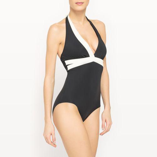 Kostium kąpielowy jednoczęściowy, modelujący, dwukolorowy marki R-edition
