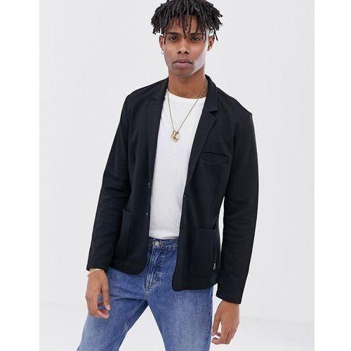 jersey blazer in black - black marki Tom tailor