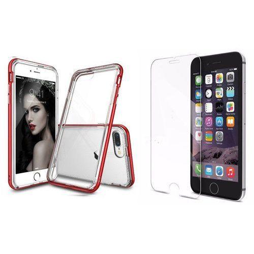 Zestaw | rearth ringke frame blaze red | obudowa + szkło ochronne perfect glass dla modelu apple iphone 7 plus marki Rearth / perfect glass