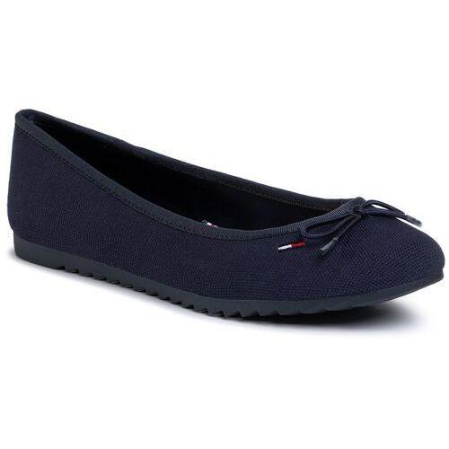 Baleriny - color block ballerina en0en00818 twilight navy c87 marki Tommy jeans