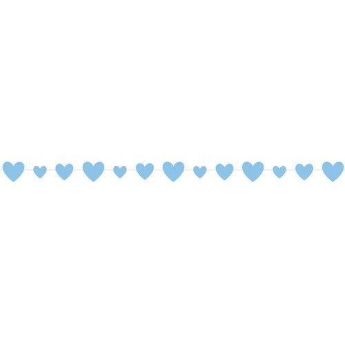 Unique Girlanda z błękitnymi serduszkami - 274 cm- 1 szt. (0011179733880)