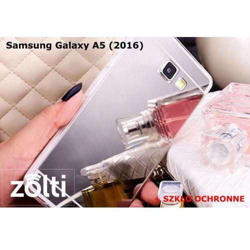 Zestaw   Slim Mirror Case Srebrny + Szkło ochronne Perfect Glass   Etui dla Samsung Galaxy A5 (2016)