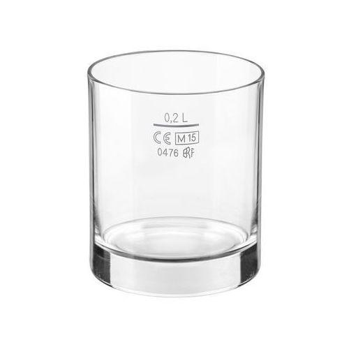 Szklanka niska do napojów 200 ml - z cechą marki Bormioli rocco