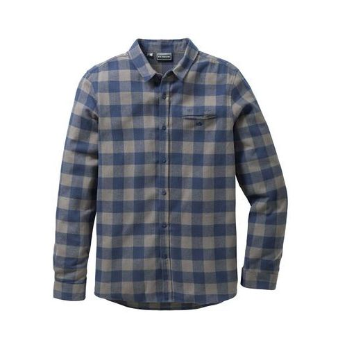 309d48436c7e Koszula flanelowa z długim rękawem slim fit niebiesko-zielony w kratę marki  Bonprix