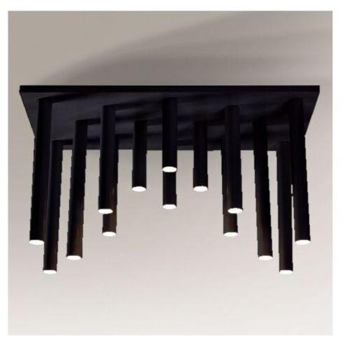 Plafon lampa sufitowa yabu 1168 metalowa oprawa sople tuby czarne marki Shilo