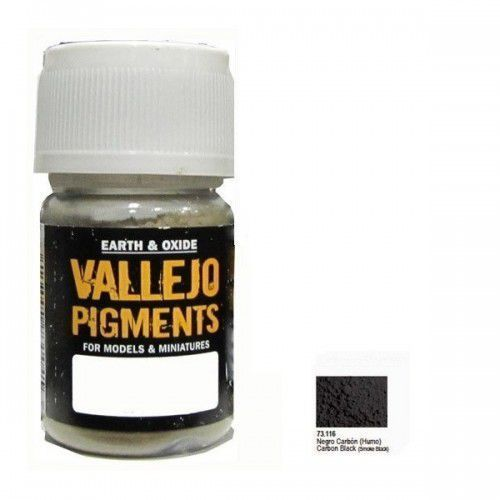 Pigment - Carbon Black (Smoke Black) / 30ml Vallejo 73116, 5_501819