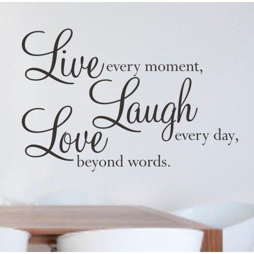 Naklejka dekoracyjna na ściane live laught love - outlet marki Giftworld