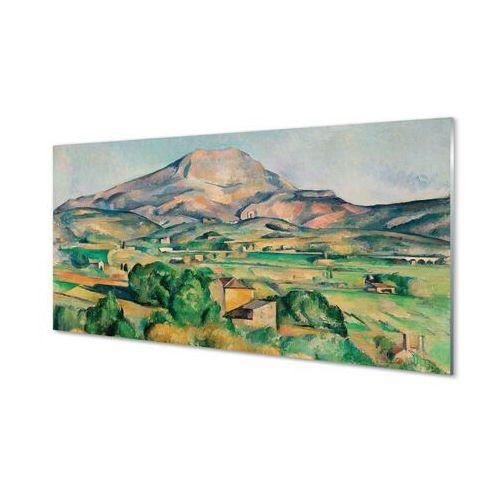 Obrazy akrylowe Sztuka łąka z widokiem na górę