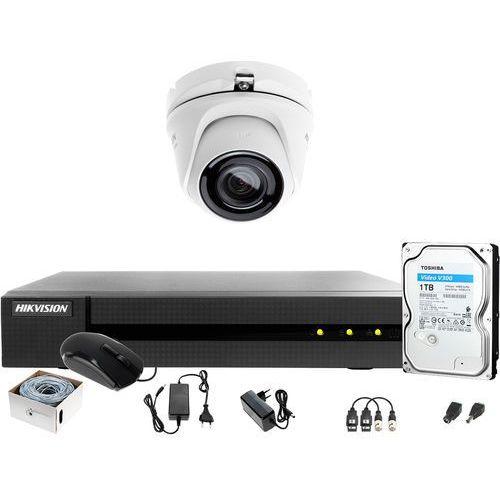 UTP Skrętka Monitoring 4MPx HWD-6104MH-G2 1 x HWT-T140-M 1TB Samodzielny montaż, ZM13148