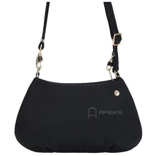 Pacsafe Citysafe CX Crossbody torebka damska antykradzieżowa na ramię / czarna - Black, kolor czarny