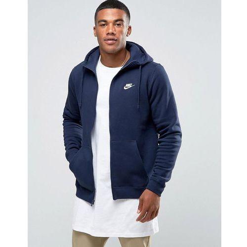 Nike Zip Up Hoodie With Futura Logo In Navy 804389-451 - Navy, kolor szary