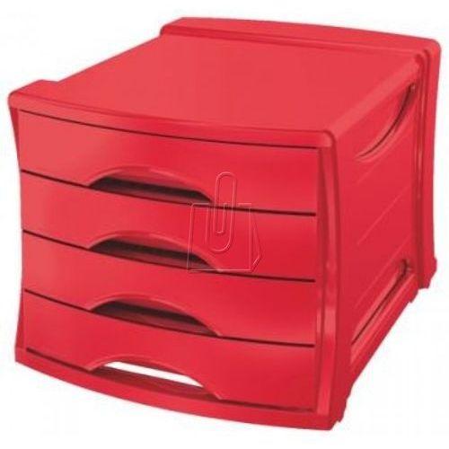 Pojemnik z 4 szufladami ESSELTE Europost VIVIDA czerwony (4049793026701)