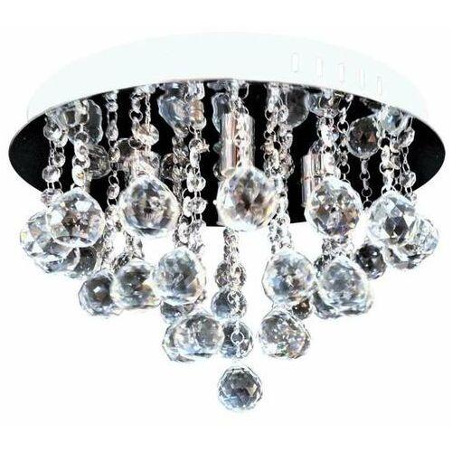 Plafon LAMPA kryształowa VEN P-E 1437/4-40 okrągła OPRAWA sufitowa glamour crystals chrom przezroczysta (5902335917945)