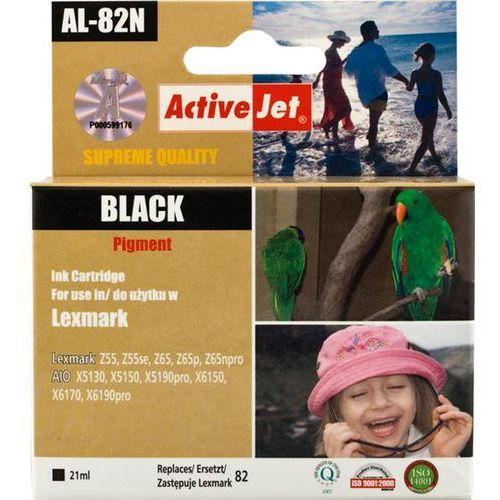 Activejet Tusz al-82n (do drukarki lexmark, zamiennik lexmark 82 18l0032e supreme 21ml czarny)