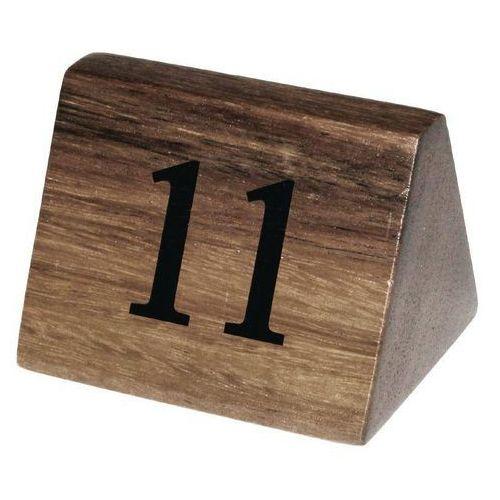 Olympia Drewniane numerki na stoły 11-20 | 3,5x3,5x(h)5,5cm