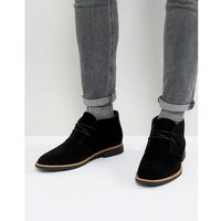 New look faux suede desert boots in black - black