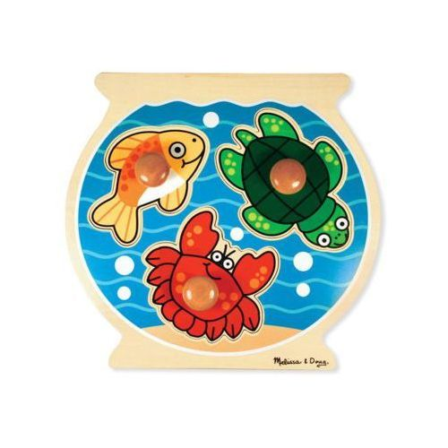 Melissa & doug Puzzle drewniane puzzle fish bowl large peg 12056