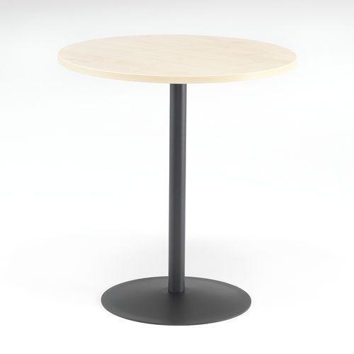 Stół do kawiarni astrid, Ø 700 mm, laminat, brzoza, czarny marki Aj produkty