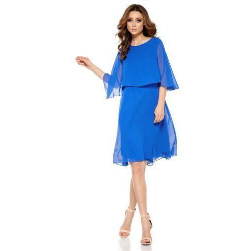 Chabrowa Elegancka Wieczorowa Sukienka z Narzutką, w 3 rozmiarach