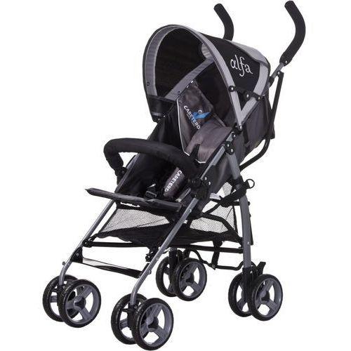 Wózek spacerowy  alfa czarny + darmowy transport! marki Caretero