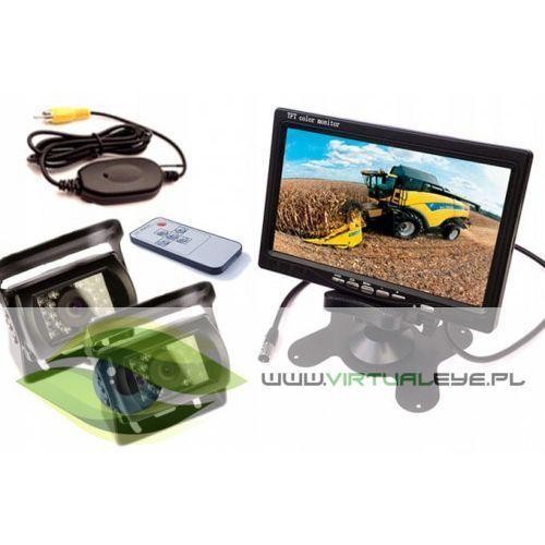 Bezprzewodowy Zestaw 2x Kamera cofania + Monitor