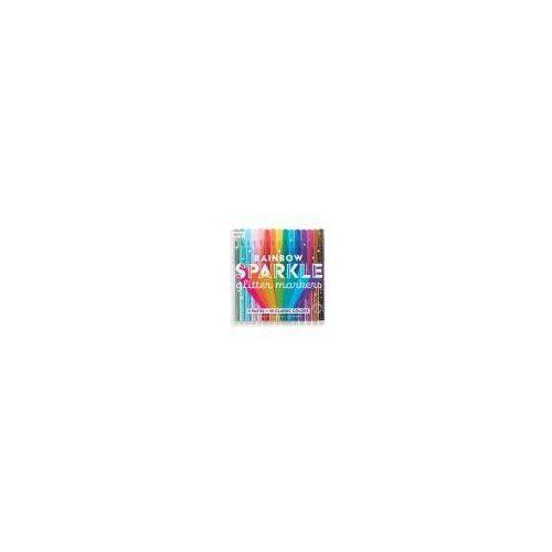 Flamastry z brokatem rainbow sparkle glitter mark marki Kolorowe baloniki