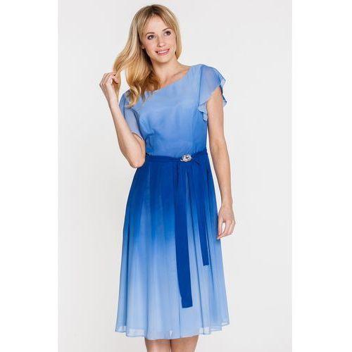Sukienka z błękitnym cieniowaniem - GaPa Fashion, kolor niebieski