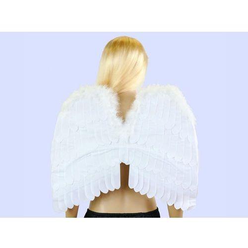 Skrzydła aksamitne anioła białe - 55 x 48 cm - 1 szt. z kategorii Pozostałe