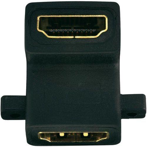 Przejściówka, adapter kątowy HDMI Inakustik 0090201000, [1x złącze żeńskie HDMI - 1x złącze żeńskie HDMI], 0090201000