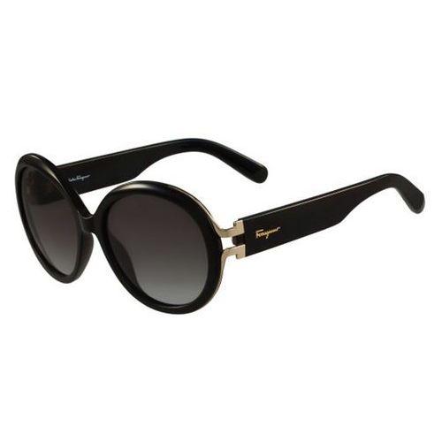 Okulary Słoneczne Salvatore Ferragamo SF 780S 001, kolor żółty