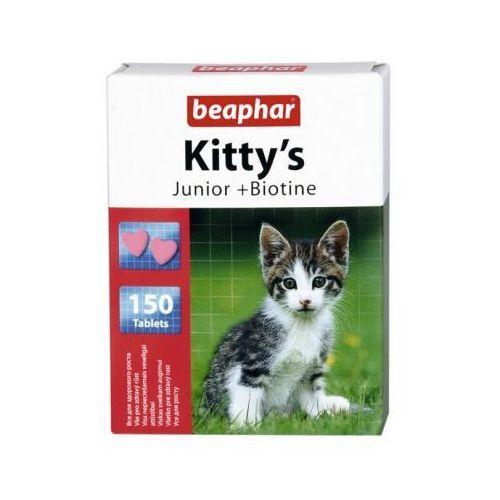 Beaphar Kitty's junior + biotine 150szt. - tabl.witaminowe z biotyną dla młodych kotów