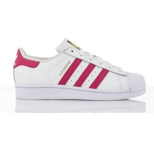 originals superstar foundation tenisówki i trampki white/bold pink marki Adidas