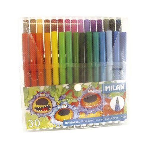 Flamastry 30 kolorów w etui - MILAN