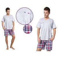 Piżama męska TYMON: jasny szary, kolor szary