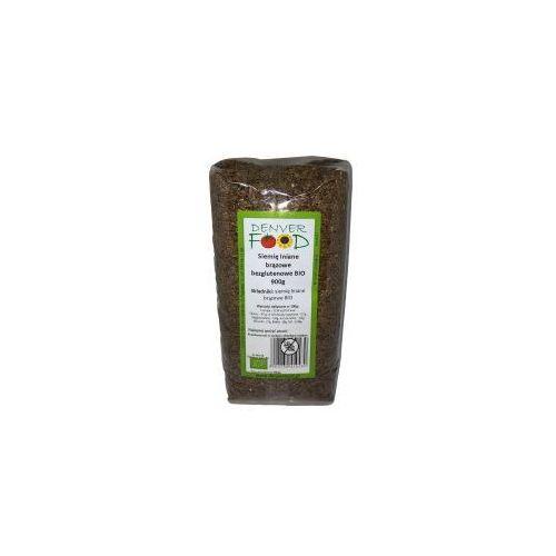 Len brązowy bezglutenowy ( siemię lniane ) bio 900 g  marki Denver food