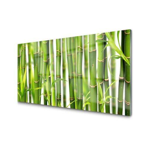 Panel Szklany Bambusowe Pędy Liście Bambus