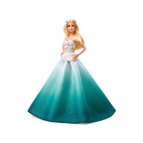 Mattel holiday barbie blond w zielonej sukni marki Barbie