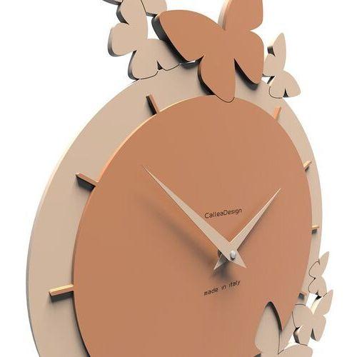 Zegar ścienny dancing butterflies oliwkowo-zielony (50-10-2-54) marki Calleadesign