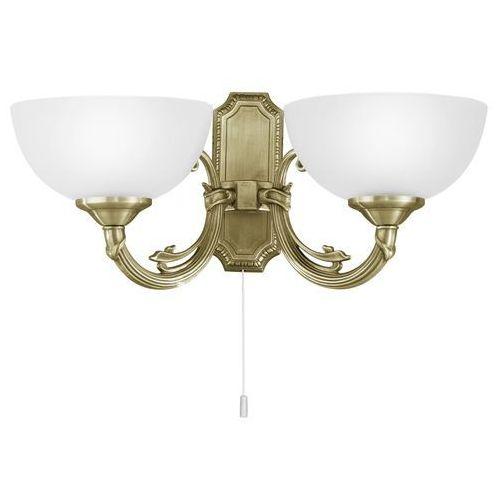 Eglo Kinkiet savoy 82752 lampa oprawa ścienna 2x40w e14 patyna