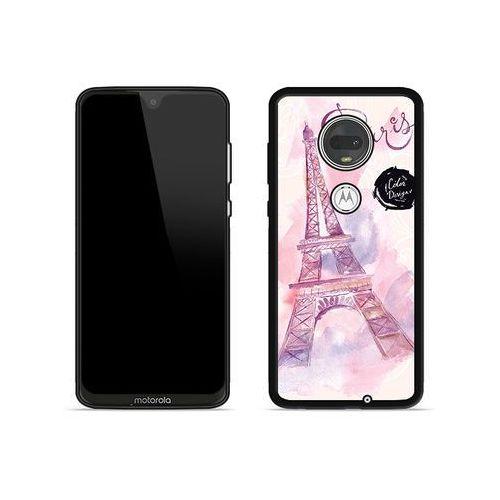 Motorola moto g7 - etui na telefon aluminum fantastic - różowa wieża eiffla marki Etuo aluminum fantastic