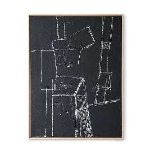obraz brutalism czarny 60x80cm awd8916 marki Hkliving