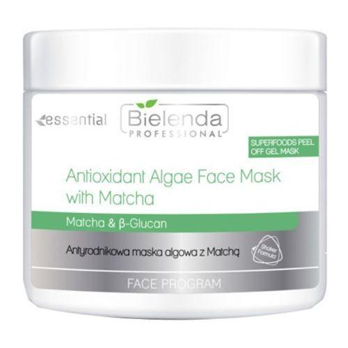 antioxidant algae face mask with matcha antyrodnikowa maska algowa z matchą marki Bielenda professional