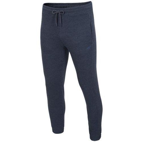 Męskie spodnie dresowe h4z17 spmd001 granatowy melanż xxl marki 4f